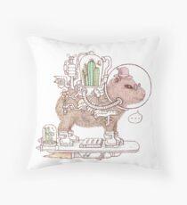 capybara space suits Throw Pillow