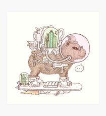 capybara space suits Art Print