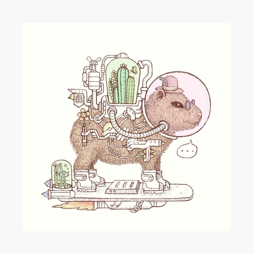 capybara space suits Art Print