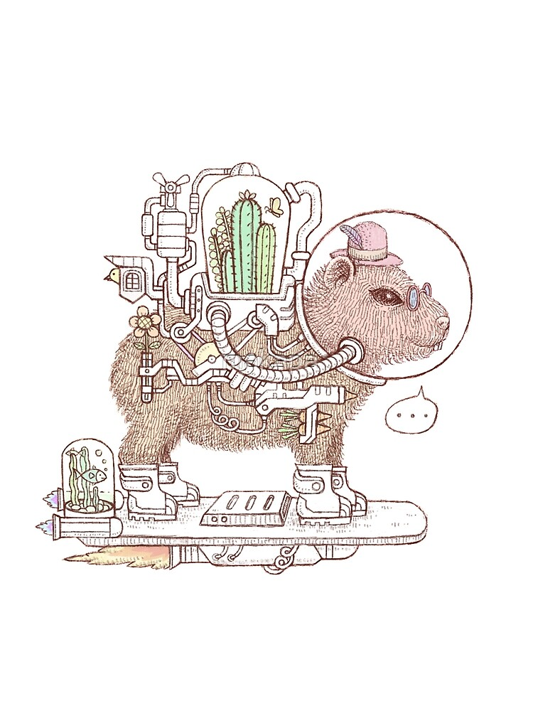 capybara space suits by makapa
