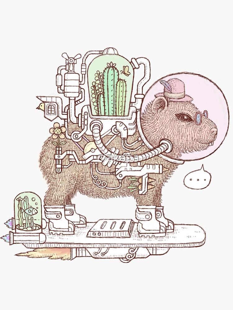 Capybara-Raumanzüge von makapa