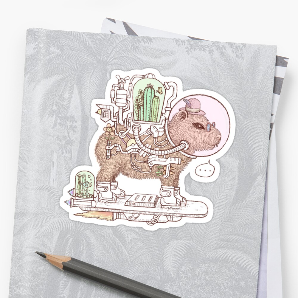 capybara space suits Stickers