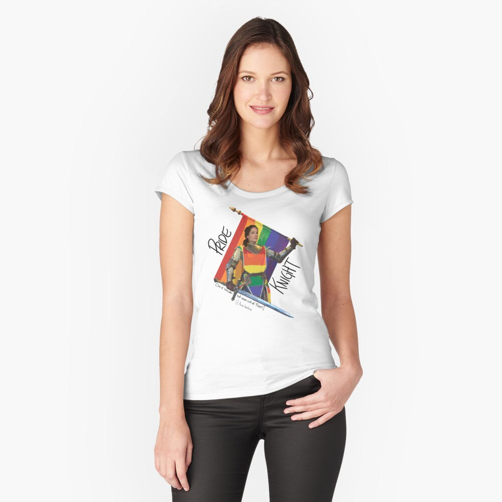 PRIDE KNIGHT  Fitted Scoop T-Shirt