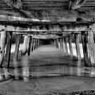 Henley Beach Jetty At Night by Jeff Reid