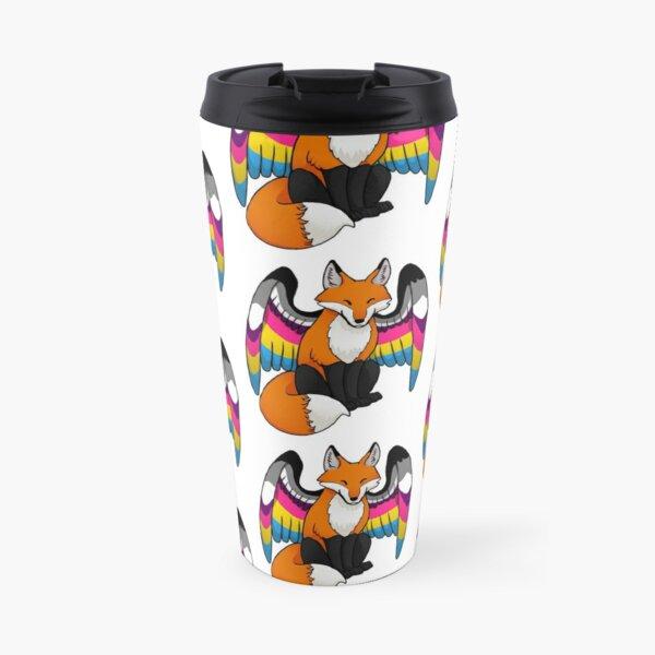 Panromantic Asexual Pride Fox Travel Mug