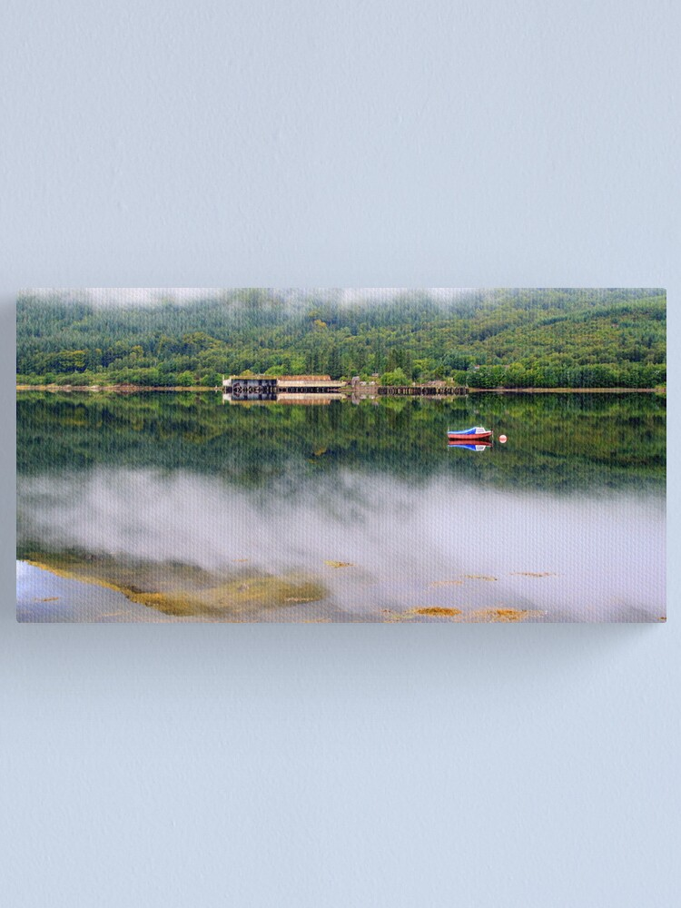 Alternate view of Misty   Loch Long    Argyll Canvas Print