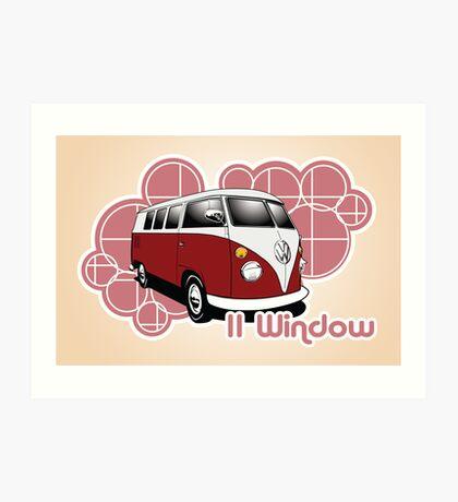 Volkswagen Print- 11 Window Split Art Print