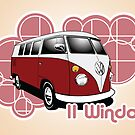 Volkswagen Print- 11 Window Split by KombiNation