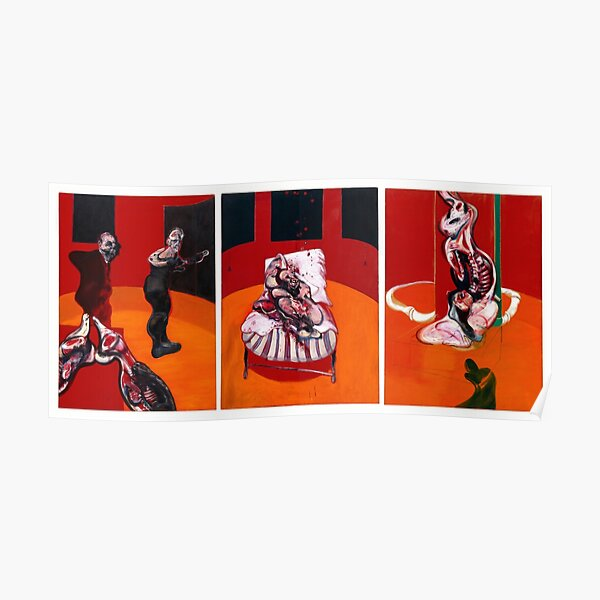 Francis Bacon - Three Studies For A Crucifixion Poster