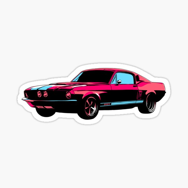 Mustang Shelby GT 500 T-Shirt & Stickers Sticker