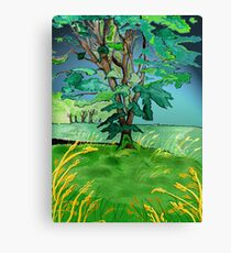 Tree and corn. Canvas Print