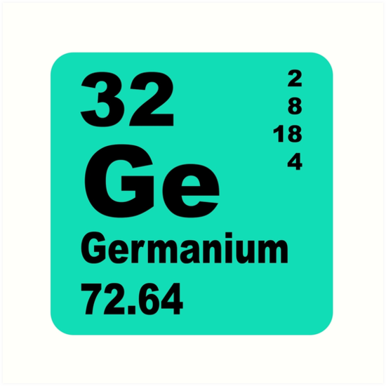 Germanium Periodic Table Of Elements Art Prints By Walterericsy