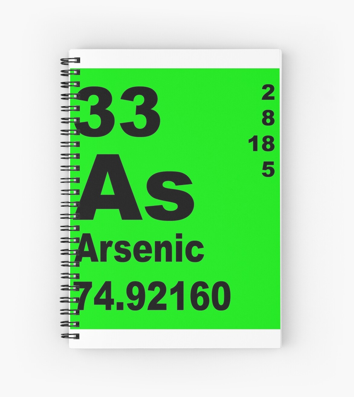 Arsenic periodic table of elements spiral notebooks by arsenic periodic table of elements by walterericsy gamestrikefo Image collections