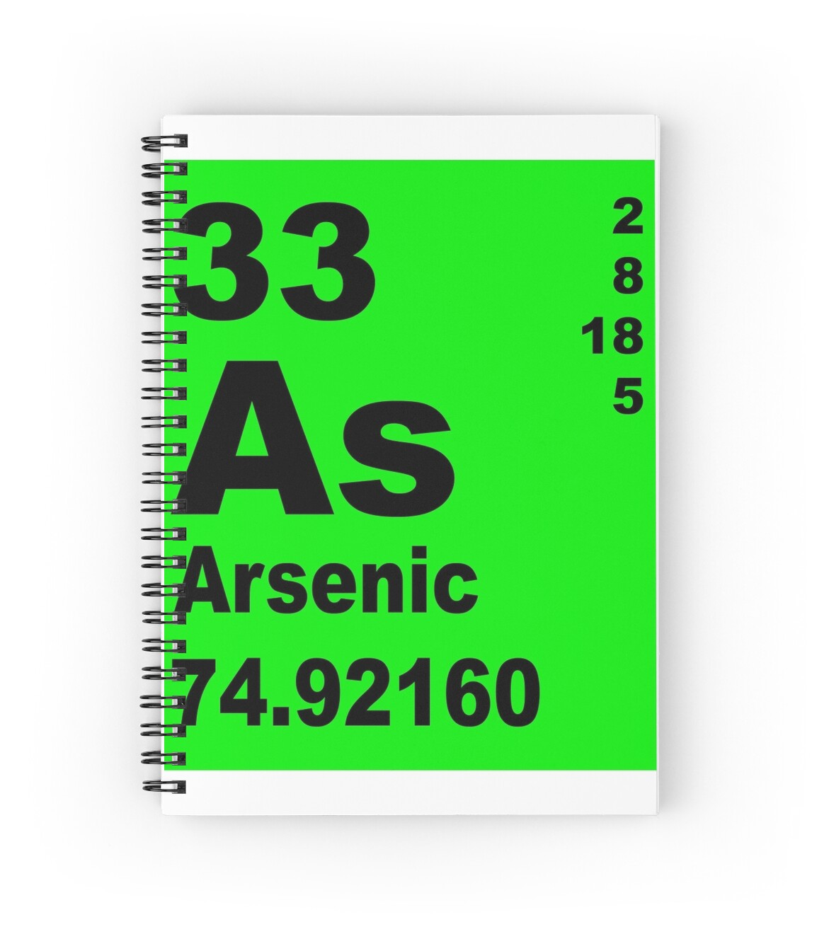 Arsenic periodic table of elements spiral notebooks by arsenic periodic table of elements by walterericsy gamestrikefo Images