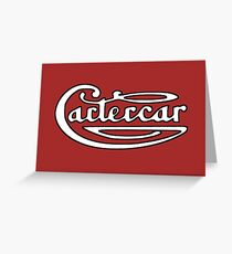 Classic Car Logos: Cartercar Greeting Card