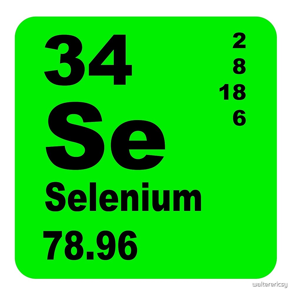 Selenium Periodic Table of Elements by walterericsy