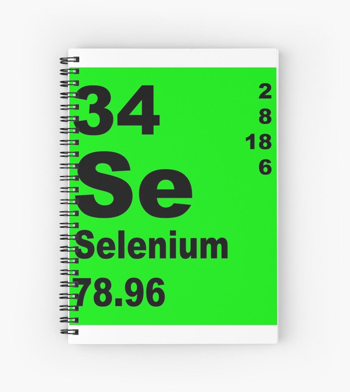 Cuadernos de espiral selenio tabla peridica de elementos de selenio tabla peridica de elementos de walterericsy urtaz Choice Image