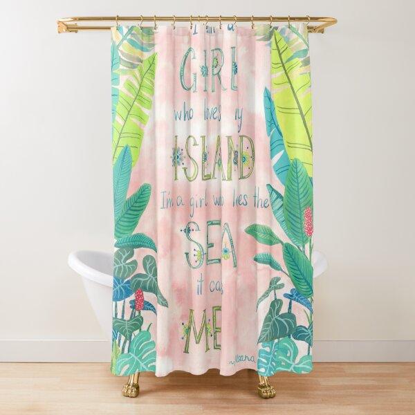 Island Girl Ocean Girl Shower Curtain