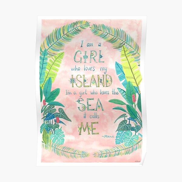 Island Girl Ocean Girl Poster