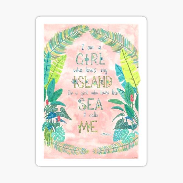Island Girl Ocean Girl Sticker