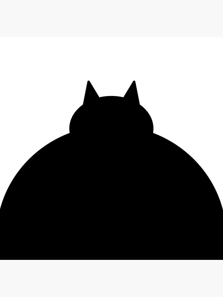Fat Black Cat by Modnay