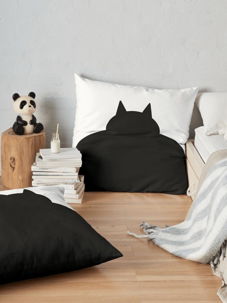 Alternate view of Fat Black Cat Floor Pillow