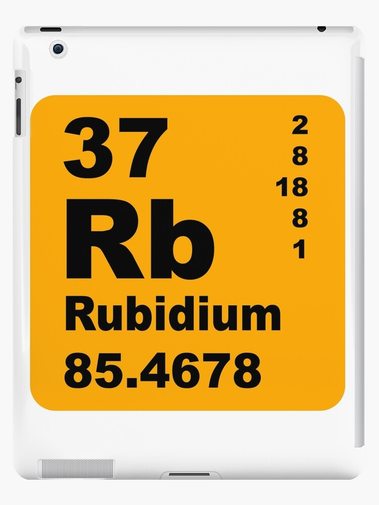 Rubidium Periodic Table Of Elements Ipad Cases Skins By