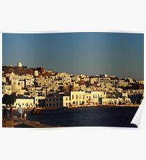 Sunset over Chora - Mykonos Poster