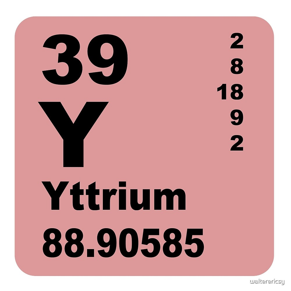 Yttrium Periodic Table of Elements by walterericsy