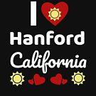 «Idea soleada del regalo de California Amo California CA EE. UU. Ciudad de Hanford» de DogBoo