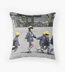 friends through cold and flu Throw Pillow