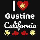 «Idea soleada del regalo de California Amo California California EE. UU. Ciudad de Gustine» de DogBoo