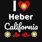 «Idea soleada del regalo de California Amo California CA EE. UU. City Of Heber» de DogBoo