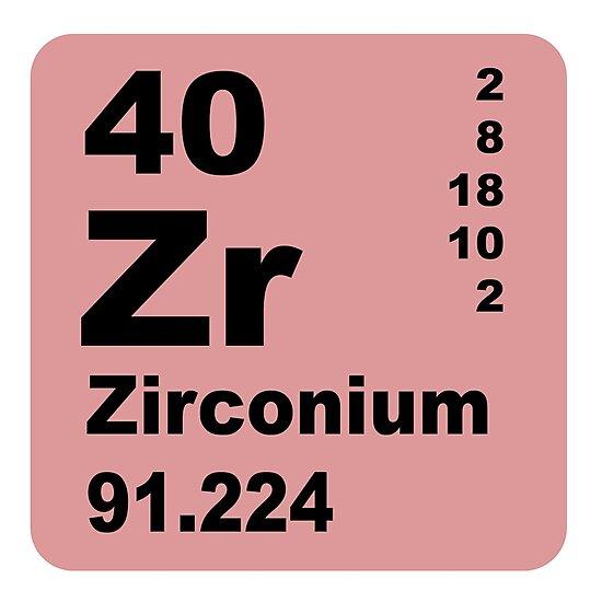 Zirconium periodic table of elements photographic prints by zirconium periodic table of elements by walterericsy urtaz Gallery
