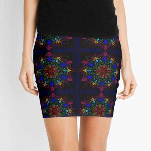 Carnival of Twisted Rainbows Mini Skirt