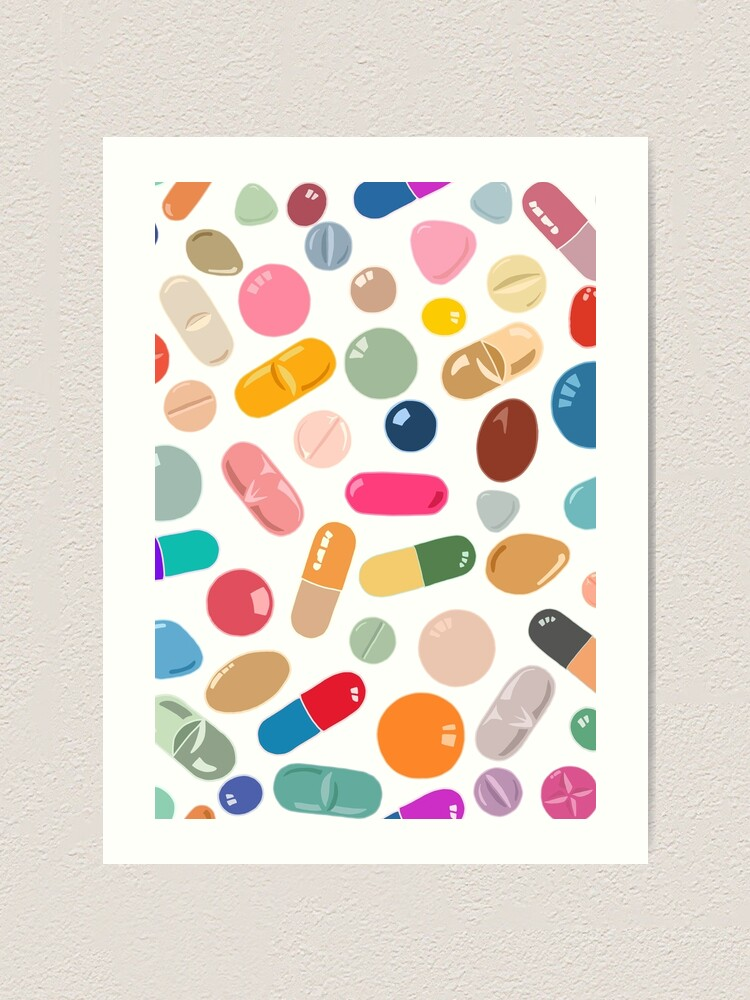 Alternate view of Sunny Pills Art Print