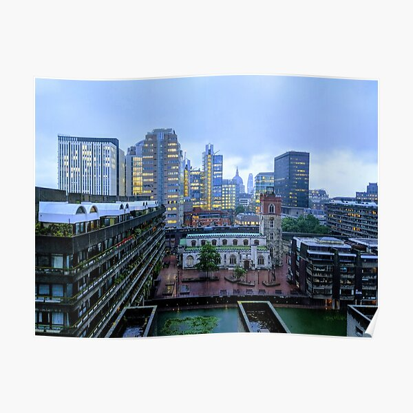 City of London Rooftops Poster