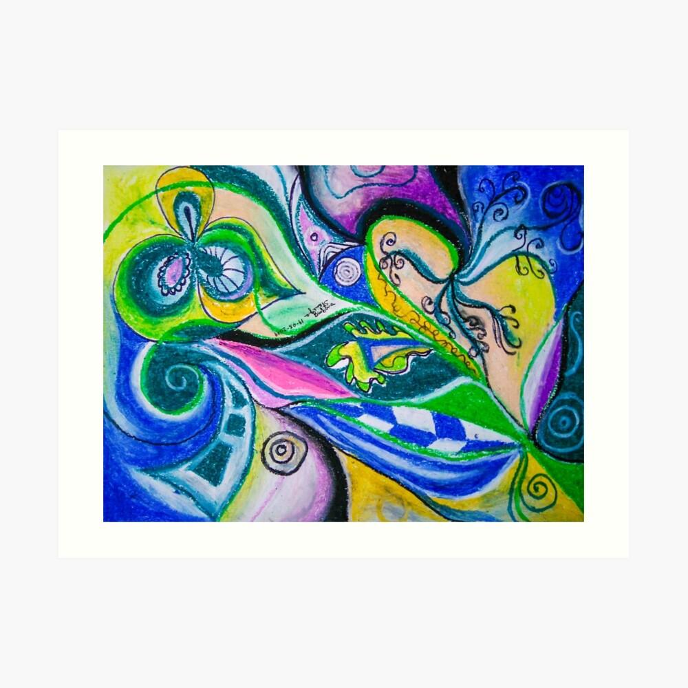 Blue Green Tones Movement Abstract Art Print