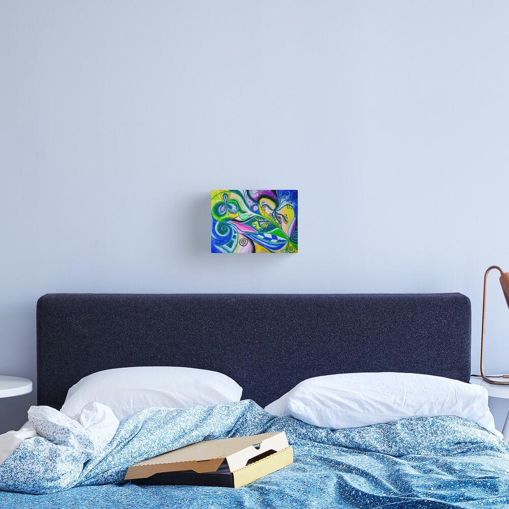 Blue Green Tones Movement Abstract Canvas Print