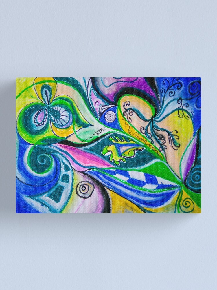 Alternate view of Blue Green Tones Movement Abstract Canvas Print