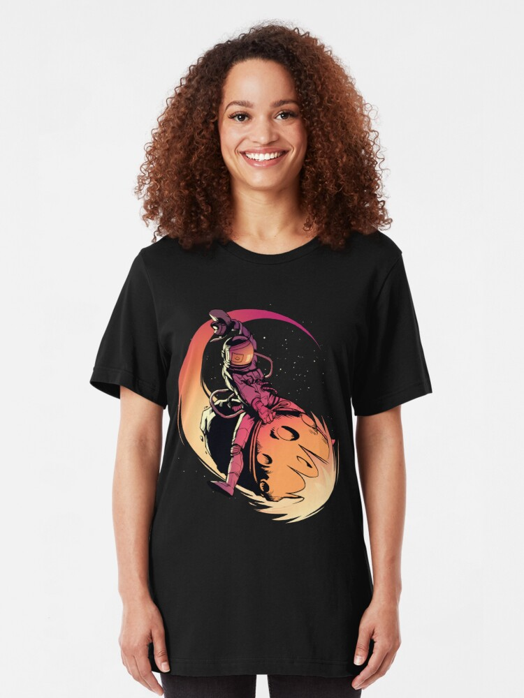 Alternate view of Asteroid Day Slim Fit T-Shirt