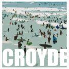Croyde surfers by Jenny Urquhart
