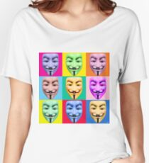 GUY FAWKES PROTEST Women's Relaxed Fit T-Shirt