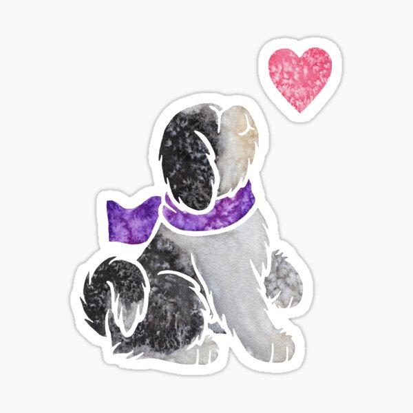 Aquarell Tibet Terrier Sticker
