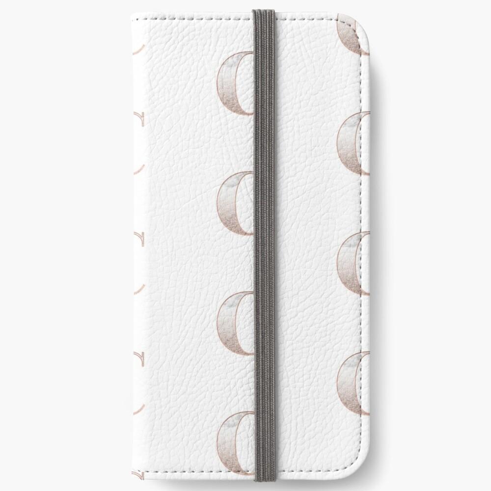 Monogramm Roségold Glitter Marmor C iPhone Flip-Case