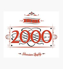 Since 2000 (Red&Black) Photographic Print