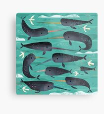 Narwhals and Narbirds Metal Print