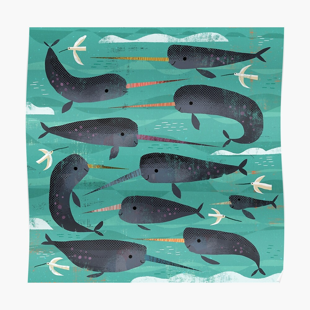Narwhals and Narbirds Poster