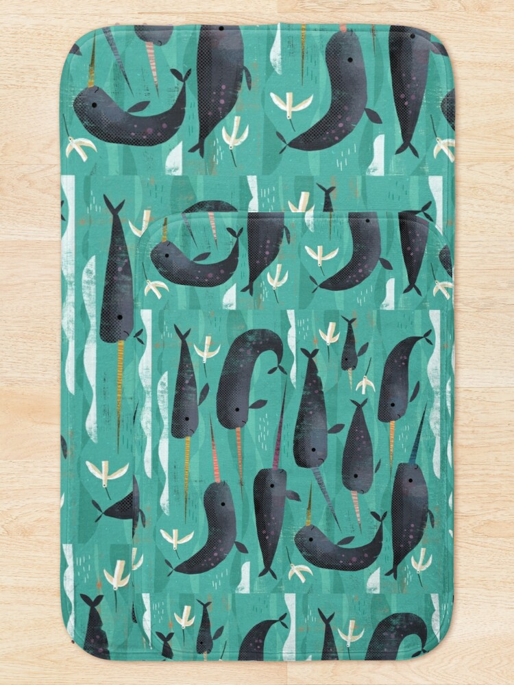 Alternate view of Narwhals and Narbirds Bath Mat