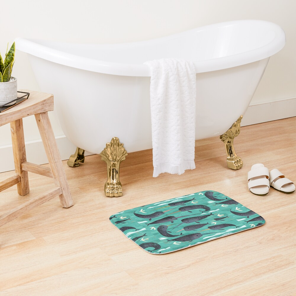 Narwhals and Narbirds Bath Mat